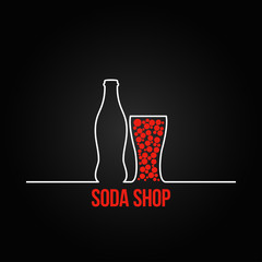 soda bottle splash design menu backgraund