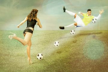 glamour football match