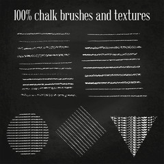 Real chalk brushes and textures