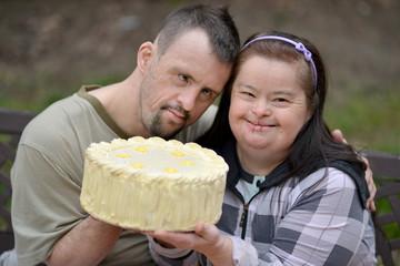 couple trisomique avec la tarte