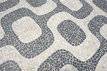 Ipanema Beach Rio de Janeiro Boardwalk Pattern