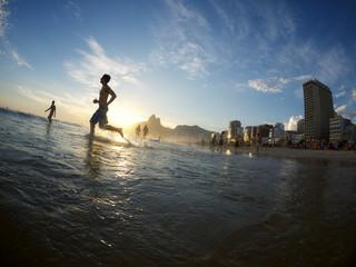 Ipanema Beach Rio de Janeiro Brasil Silhouette