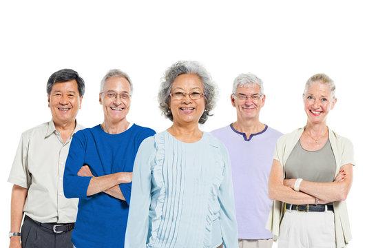 Mulltiethnic Group of Mature Adult