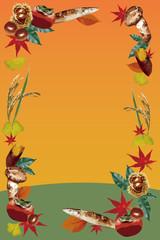 秋の味覚のイメージ枠