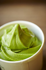 Green tea ice cream