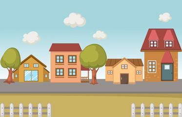 Illustration of a city scape