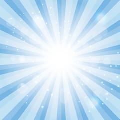Blue Sky Hypnotic Background.Vector lllustration