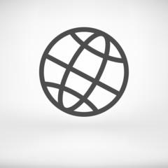 Earth Globe Icon - Vector illustration