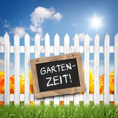 Fototapete - Gartenzeit