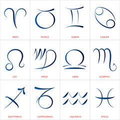 Astrology Signs Calligraphy