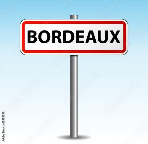 Panneau de ville bordeaux fichier vectoriel libre de droits sur la banque d 39 images - Panneau jardin castorama bordeaux ...