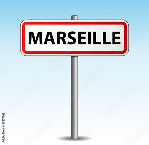 panneau de ville marseille fichier vectoriel libre de droits sur la banque d 39 images fotolia. Black Bedroom Furniture Sets. Home Design Ideas