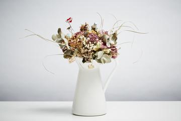 Bridal flowers Bridal flowers dried in vase