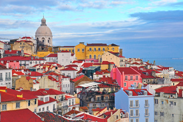 Colorful houses of Lisbon