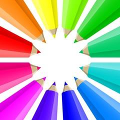 pencil color circle