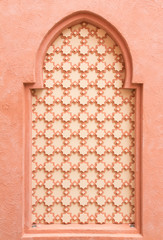 wall decorated in morocco style