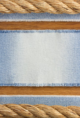 jeans at wooden texture