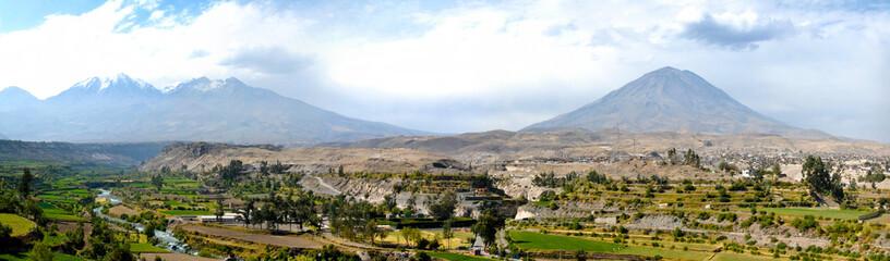 Arequipa, Peru with Misti Volcano
