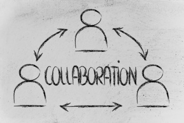 collaboration, design with group of co-workers