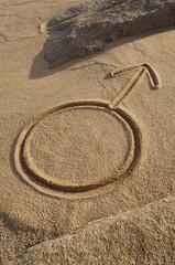 Astrologisches Symbol Mars