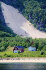 Canvas Prints Arctic Norwegian sandfall