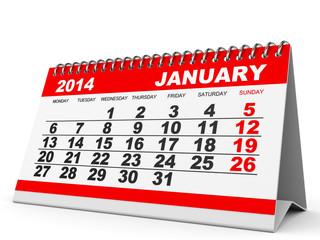 Calendar January 2014.
