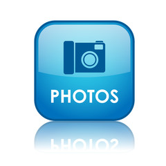 """PHOTOS"" Web Button (pictures art view share social media blog)"