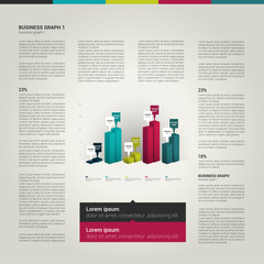 Infographics page layout.