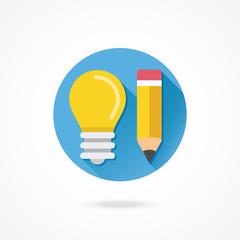 Vector Idea or Web Development Concept Icon