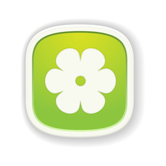 The button with flower icon