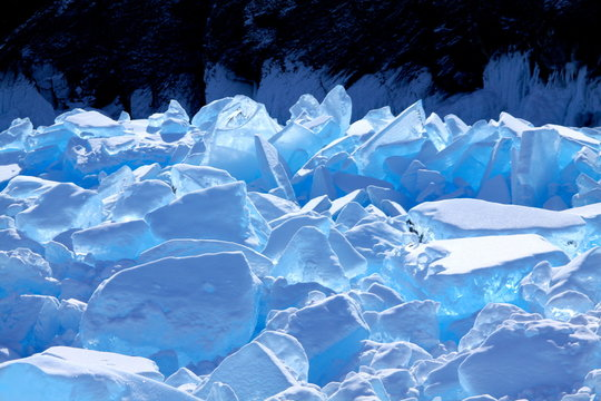 Icebreak, lake Baikal