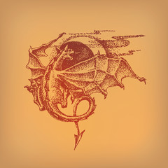 Dragon. Vector format