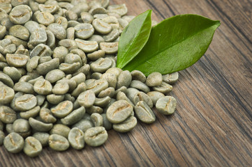Wall Mural - lose weight by drinking raw green coffee