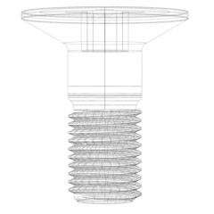 Wire-frame screw