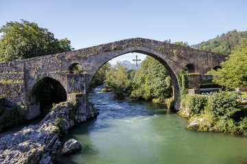 Roman stone bridge in Cangas de Onis