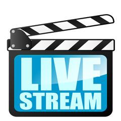clapper board LiveStream