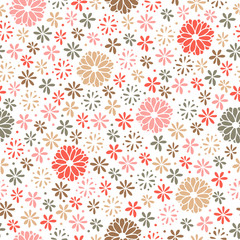 Seamless floral pattern, endless background