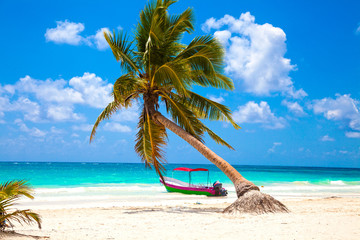 Vacations and tourism concept: Caribbean Paradise. Wall mural