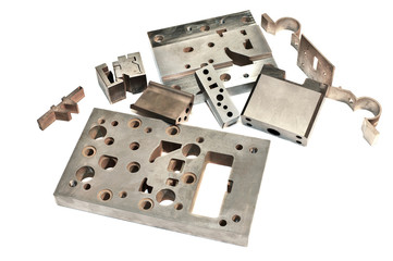 Metal cnc details. Matrix and puncheon. Milling and drilling.