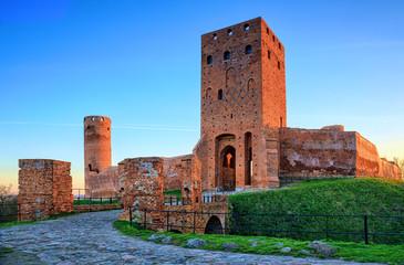 Fotobehang Kasteel Medieval castle at dusk.HDR-high dynamic range