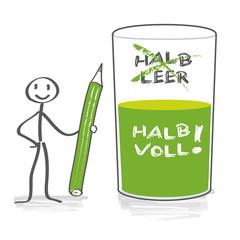 Glas Halb Voll Oder Halb Leer