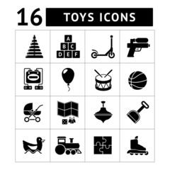 Set icons of toys
