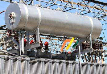gigantic oil tank in transformer power station