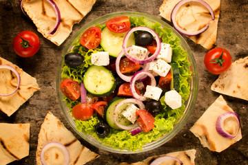 Spring salad and tortilla