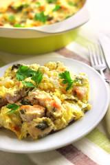 Chicken breast and cauliflower casserole