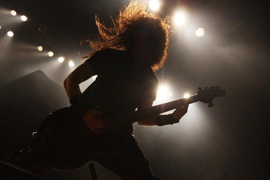 Guitarist in action