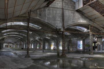 hangar apres la pluie