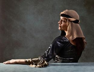 portrait of woman in Renaissance gown