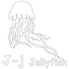 J For Jellyfish Coloring Page