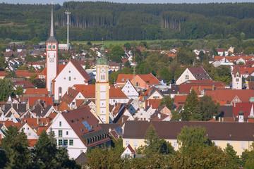 Fotomurales - Allgäu, Mindelheim, Stadtblick von Katharinenkapelle